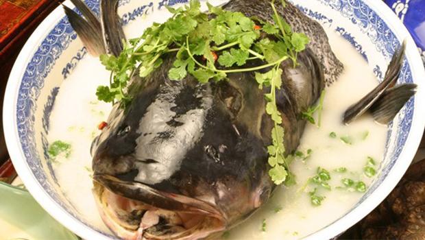 中餐厅名厨秘制酱汁料理出当地特色菜-千岛湖鱼头,鲜美味道鲜醇,营养